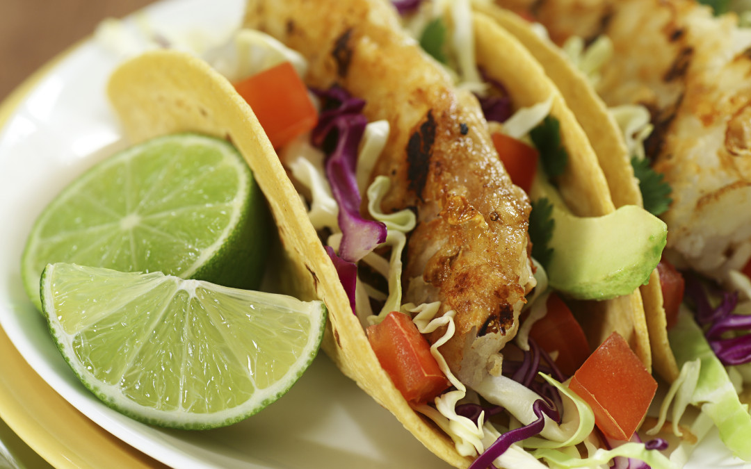 Baja Fish Tacos with Lime Cumin Slaw